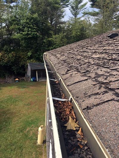 damaged gutter repair replacement